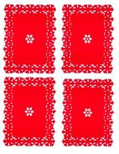 Set of 4 Snowflake Placemats Christmas Kitchen Dining Place Mat Xmas Felt