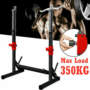 Solid Squat Dip Rack Power Stand Weight Bench Heavy Duty Bench Press Barbell UK