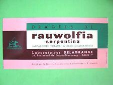 ANCIEN BUVARD PUBLICITAIRE Rauwolfia / PRODUIT PHARMACEUTIQUE