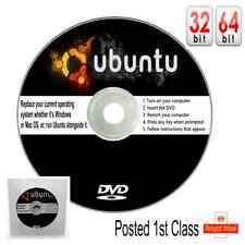 UBUNTU DVD Full Operating System New Version 2019 Replace Windows or Mac PCs