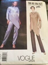 Vogue Sewing Pattern 2577 Tom Linda Platt Tunic Top & Pants Size 14-18