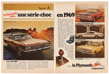 1969 CHRYSLER Vintage Original 8-pages Print AD Imperial Plymouth Fury Charger