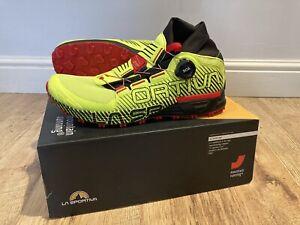La Sportiva Cyklon Trail Running Shoes - RRP £140 - UK 9.5 - Neon/Goji
