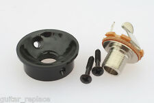 Jack Plate Socket Negro Black Telecaster Cazoleta Guitarra Eléctrica Tele