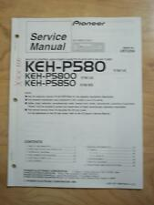 Pioneer Service Manual for the KEH-P580 KEH-P5800 KEH-5850 Car Stereo Radio   mp