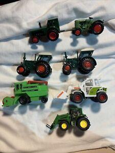 Konvolut 7 Nutzfahrzeuge Bauernhof, Traktor, z. B Siku