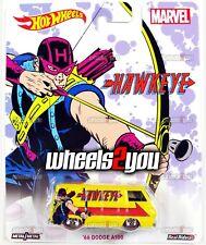 66 DODGE A100 Hawkeye - MARVEL - 2016 Hot Wheels Pop Culture REAL RIDERS