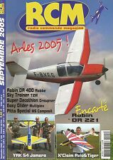 RCM N°293 PLAN : ROBIN DR ZZ1 / YAK 54 JAMARA / X'CLAIM AVIO&TIGER / SKY TRAINER