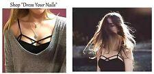 Cami Crop Top - Teenage Fashion Lace Strap Vest Black CAGE layered short vest