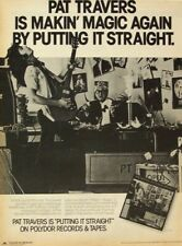 PAT TRAVERS 1977 POSTER ADVERT PUTTING IT STRAIGHT