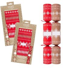 12 Pack Make your Own Christmas Cracker Kit 100% Recyclable Content - No Plastic