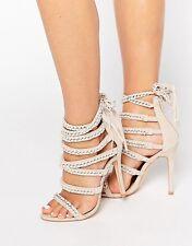 Public Desire Alexandra Wrap tie Heeled Sandals Size 37,39,41