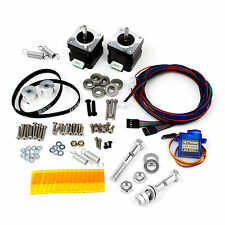 Itty Bitty Double Extruder Hardware Kit w/Motors/Hobbed Bolts/Servo/Lt Springs