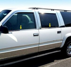 1992-1999 Chevy Suburban  4Pc Window Sill Trim Stainless Steel Overlay