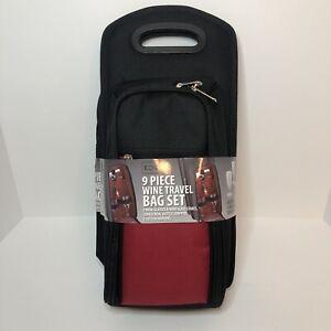 KOVOT 9 Piece Wine Travel Bag and Picnic Set