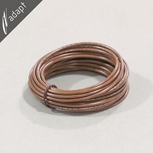 14 AWG Brown Hook Up Lead Wire Stranded 25 ft UL1015, 600V AWM MTW TEW