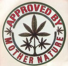 WEED 420  MARIJUANA  POT  DECAL STICKER  RAT ROD HOT ROD  MOTHER NATURE