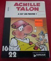 Soft Cover French Book Achille Talon a 50 de Fièvre Dargaud 16/22 No.21