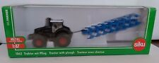 Siku Farmer 1:87 ho 1862 Tractor With Plough Model Boxed