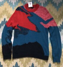 PS by Paul Smith Harry Sweater - Size Medium - Red Multicolour Mohair - Men's