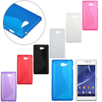 For Sony Xperia M2 Fashion Simple S-Line Rubber Soft TPU Bumper Case Gel Cover A