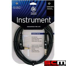 DADDARIO PLANET WAVES 10FT Custom Series Guitar Cable Right Angle Lead PWGRA10