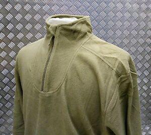 Genuine British Army PCs Thermal Undershirt / Fleece Light Green All Sizes - NEW