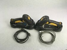Lot of 2 Motorola Symbol Ls3578 Barcode Scanners With Stb3578 Cradles