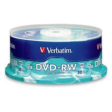 Verbatim Rewritable DVD DVD-RW 30 Disc Pk Spindle 2xspeed  Pn: 95179