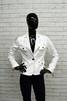Giacca MARLBORO CLASSICS Donna Taglia Size S Giubbino Jacket Woman Cotone Bianco