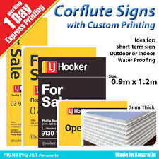 90cm x 120cm Corflute Signs with Printing