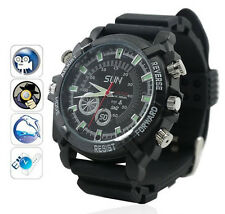 8GB 1080P Spy Wrist Watch Camera Hidden DVR Waterproof Clock Night Vision Camera