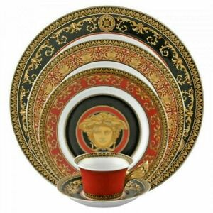 Medusa Red by Rosenthal - Versace 5 piece Place Setting, fine China, NEW