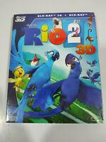 Rio 2 3D Animazione Blue Sky - Blu-Ray + 3D Spagnolo Inglese nuevo