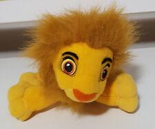 DISNEY SIMBA WITH MANE LION KING BEANIE TOY 26CM LONG