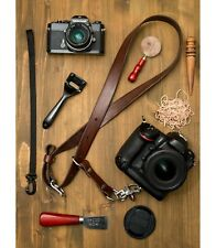 Cloverlily Leather Single Camera Strap Leather Camera Sling Handmade Dark Brown
