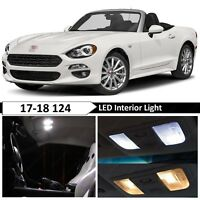 White Interior Map Trunk LED Lights Package Kit for 2017-2018 Fiat 124 Spider