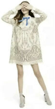 NWT Anna Sui For Target Lace Long Sleeve Ribbon Shift Mini Dress M Cute!!