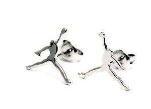 Jumpman MJ23 925 Sterling Silver High Polish Stud Earring Rhodium Plating