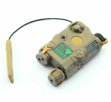 AIRSOFT PEQ-15 LASER LIGHT TORCH IR PRESSURE PAD RIS 20mm RAIL M SERIES TAN DE