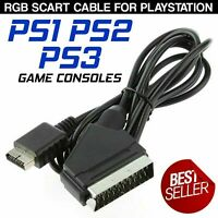 Scart Cable RGB AV Audio TV HDTV Cable Lead For Playstation PS1 PS2 PS3 Consoles