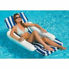 Swimline SunChaser 10010 Swimming Pool Padded Floating Luxury Chair Lounger