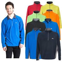 Trespass Mens Microfleece Half Zip Neck Airtrap Pullover Tron