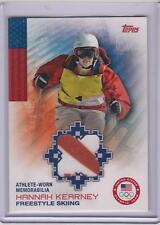2014 TOPPS OLYMPIC HANNAH KEARNEY RELIC CARD ~ 2 COLOR ~ FREESTYLE SKIING