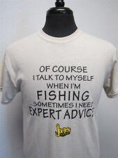 "Joe Bass ""Of Course I Talk To Myself When I'm Fishing..."" T-Shirt, Khaki, Lg"