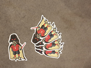 Darth Vader football Fan Style sticker pack x 5, Star Wars, soccer