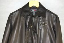 RLX RALPH LAUREN MEN BUCKLED LAMB LEATHER FLIGHT BIKER RIDING JACKET.SIZE S