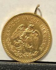 Mexico Gold 10 Pesos GOLD COIN WITH GOLD LOOP FOR JEWELRY--NO CHARGE EXRRA GOLD