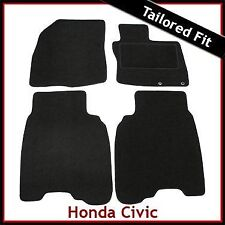HONDA CIVIC Mk8 Pre-facelif 2006-2008 2-eyelets Tailored Carpet Mats BLACK