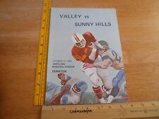 1974 Sunny Hills HS vs Santa Ana Valley Falcons High School Football program